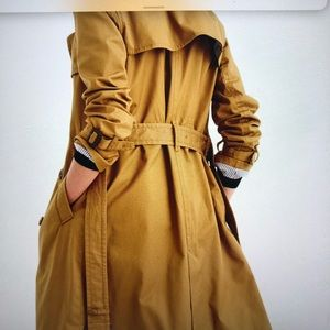J CREW NUT BROWN CITY TRENCH SIZE 2